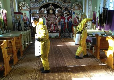 Розпочалась дезінфекція храмів у громаді